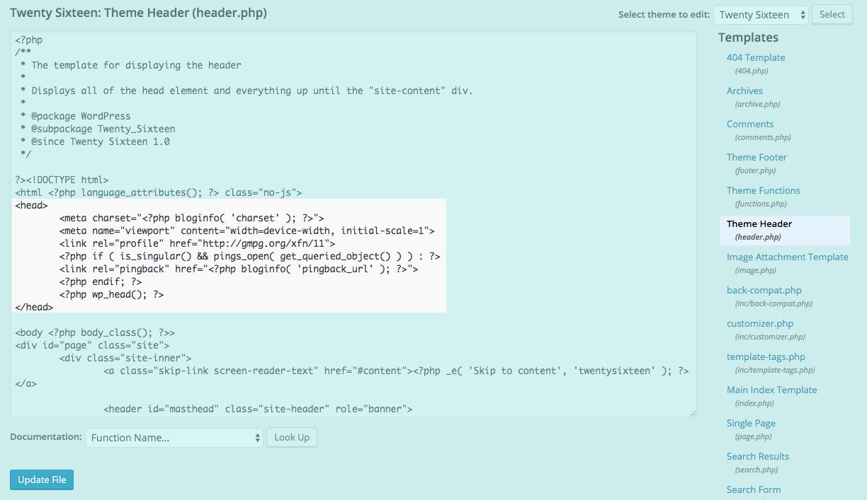 setup google analytics code