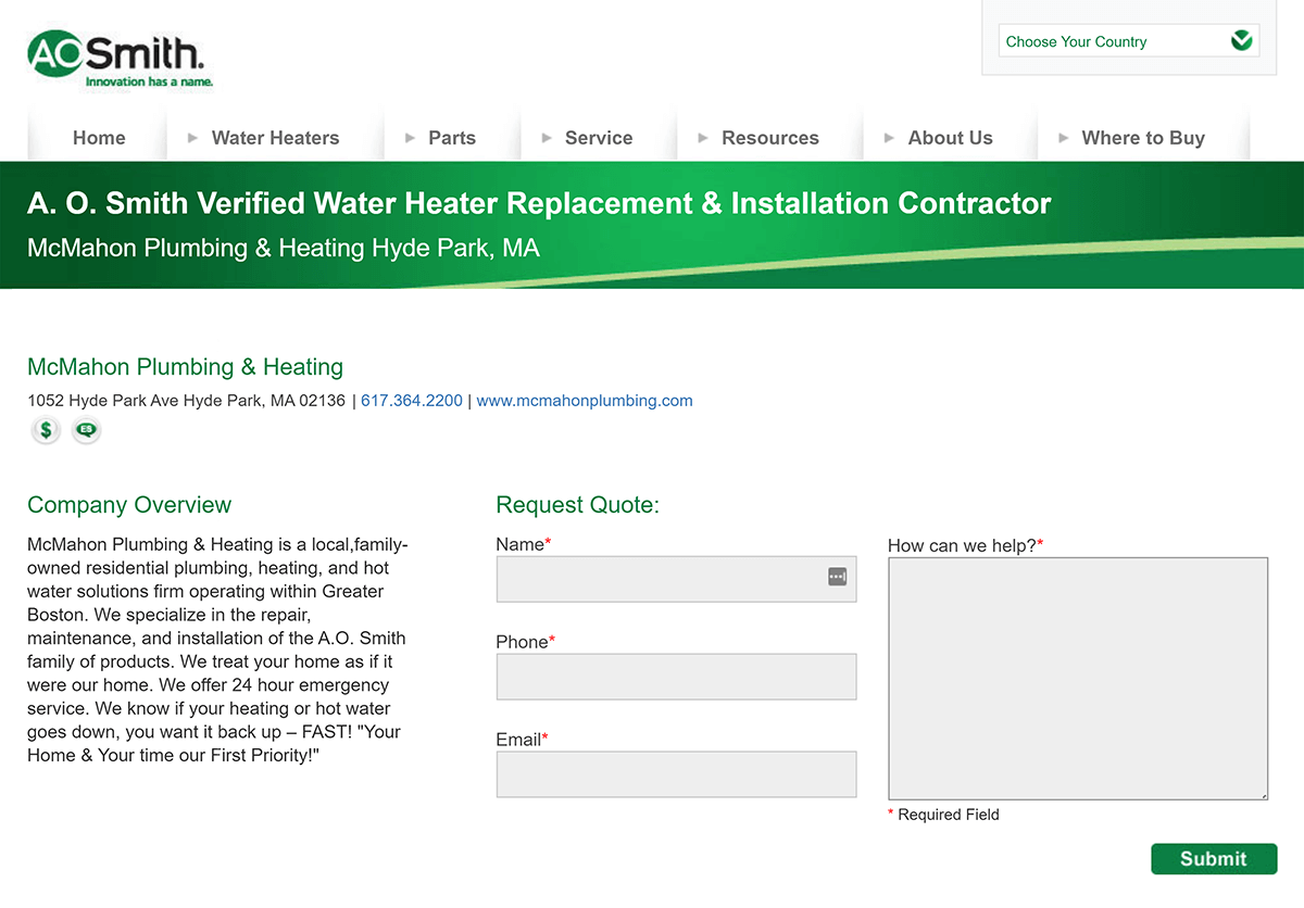 Citation and link opportunity on hotwater