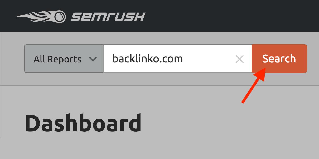 SEMRush – Enter website