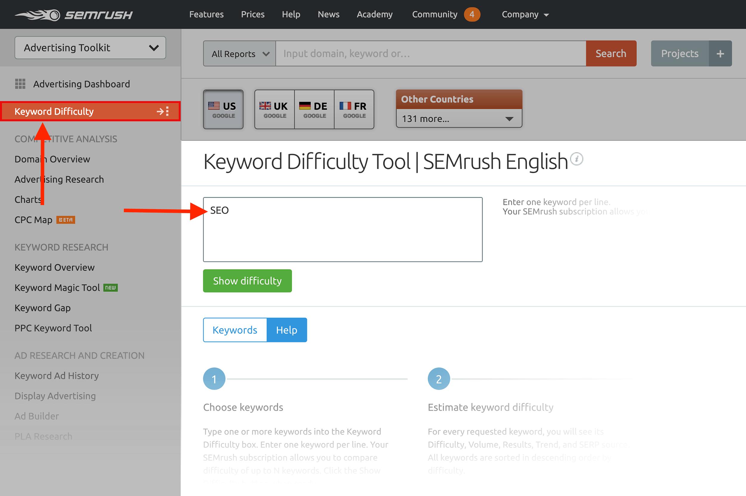 Keyword Difficulty Tool – Xếp hạng từ khóa