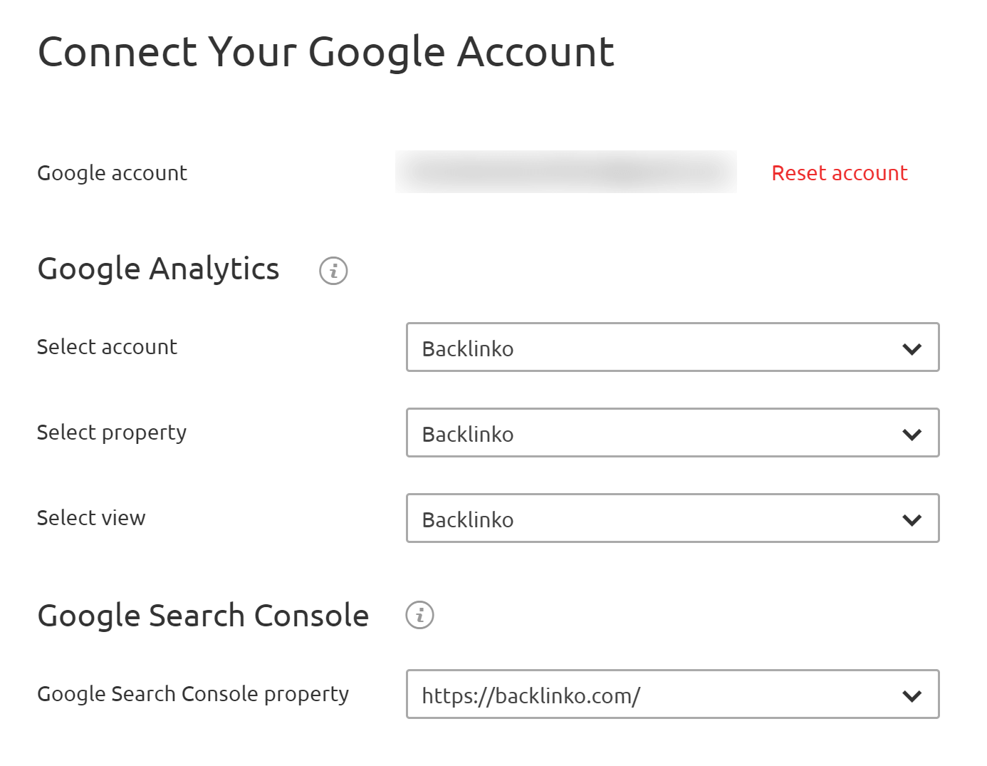 Organic Traffic insights – Connect Google Analytics and Google Search Console accounts