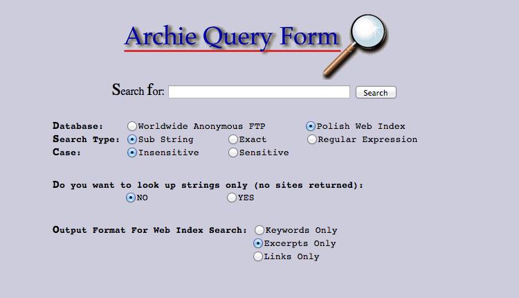 Thanh công cụ tìm kiếm Archie