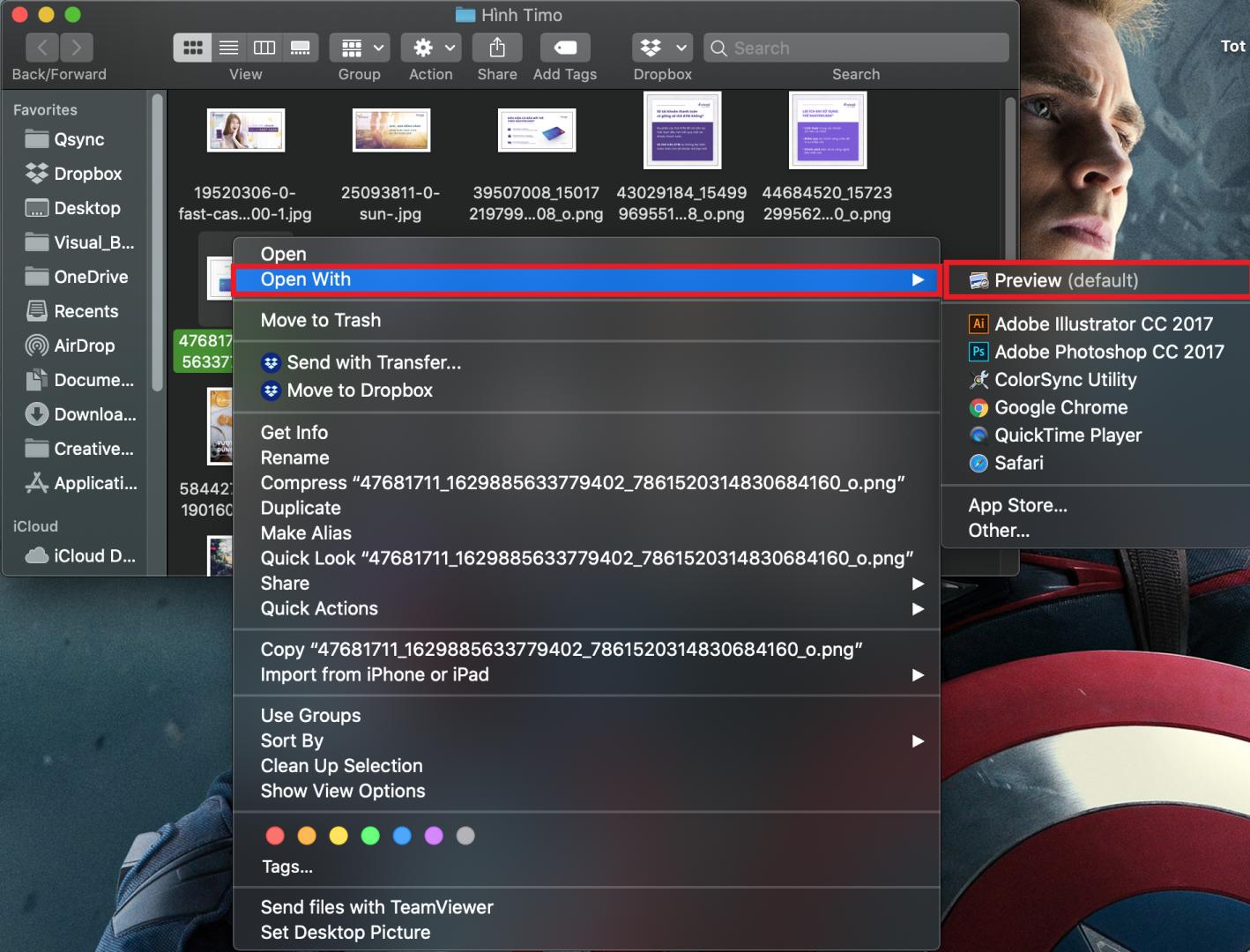 giảm kích thước ảnh trong MacOS
