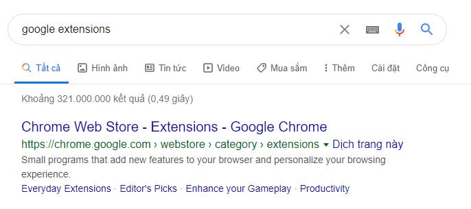 Tìm SEOquake trên Chrome store