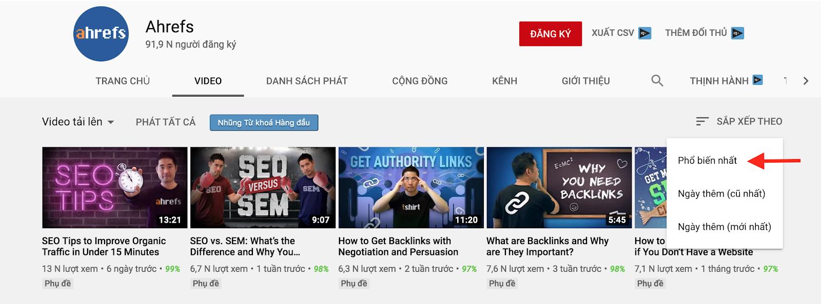 SEO Youtube