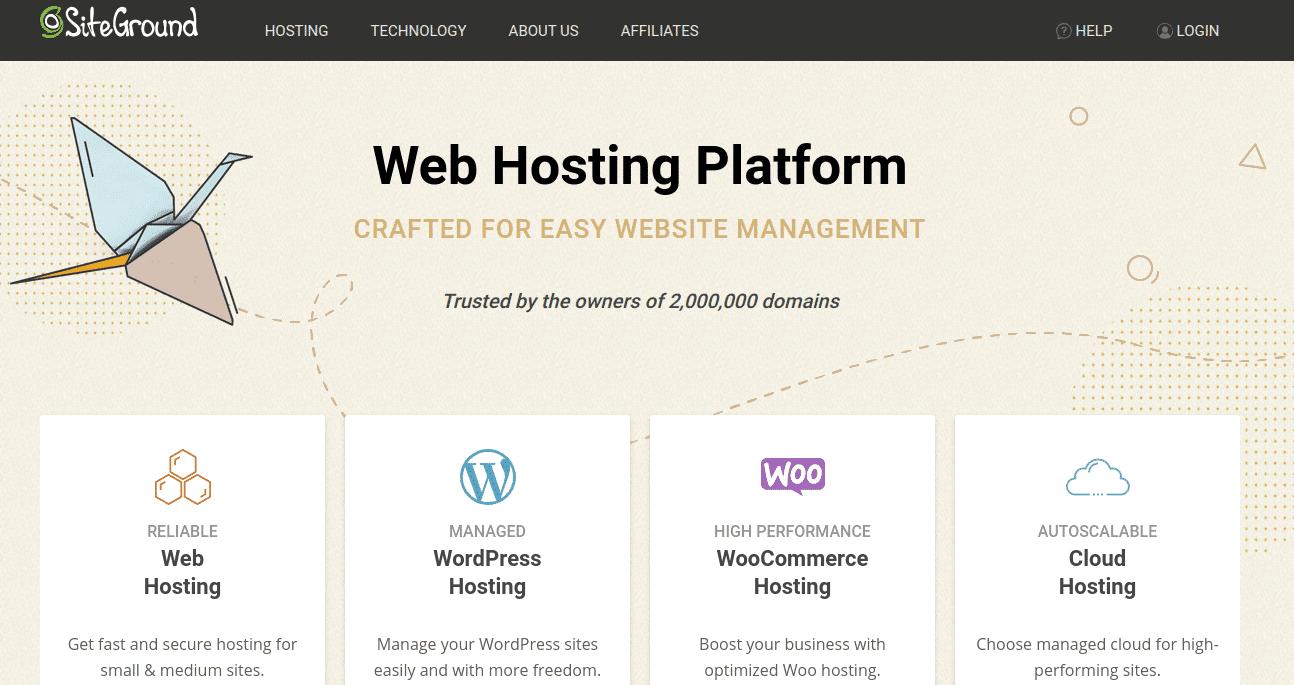 SiteGround - Cung cấp hosting giá rẻ