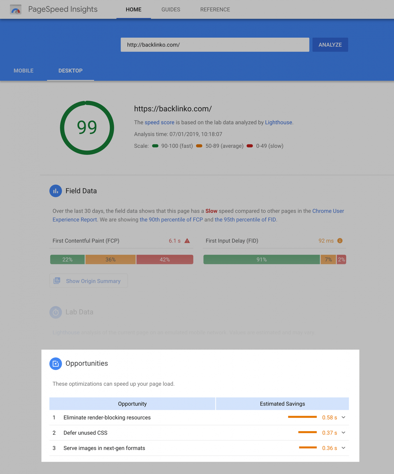 công cụ SEO-Google PageSpeed Insights