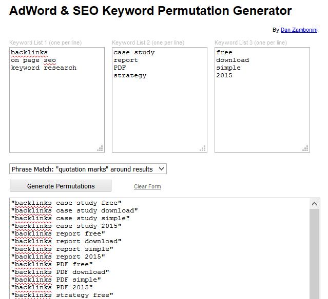 công cụ SEO-Từ khóa mới
