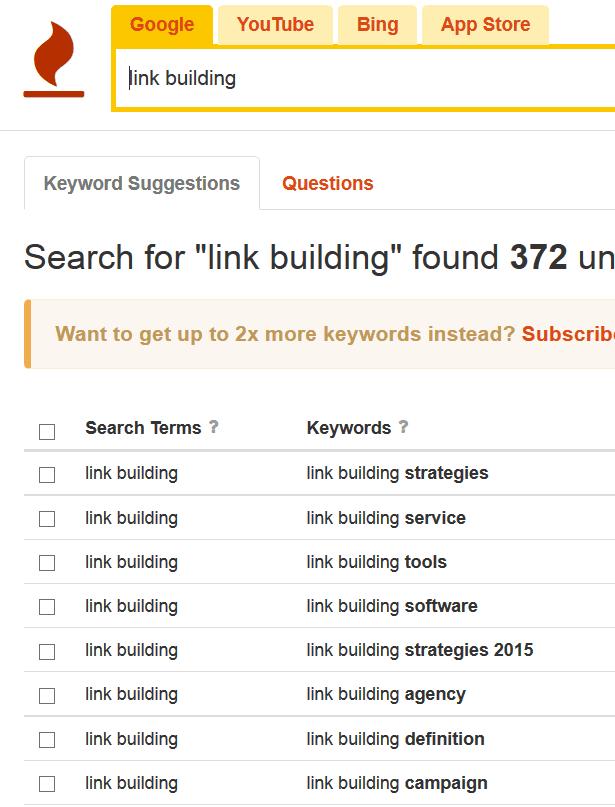 công cụ SEO-nghiên cứu từ khóa KeywordTool.io