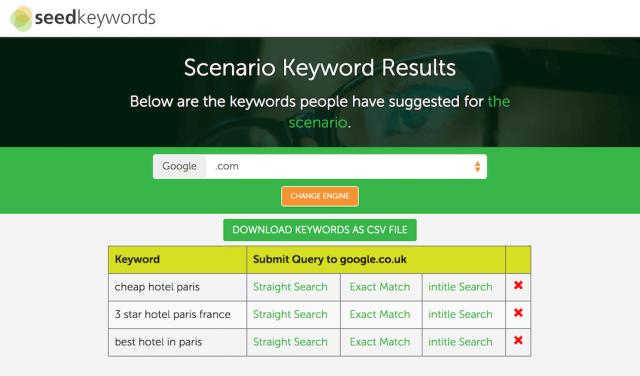 công cụ SEO-Seed Keywords