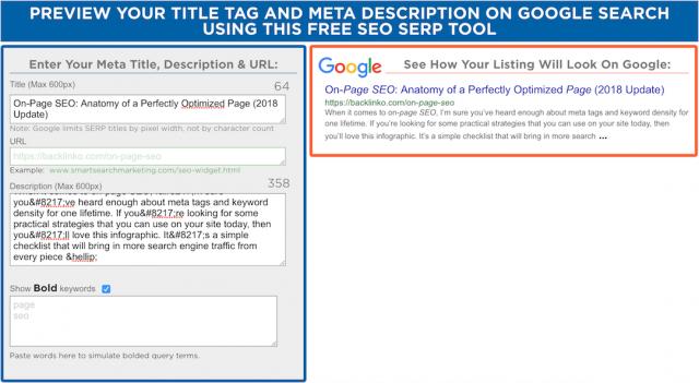 công cụ SEO-Google SERP Preview Tool