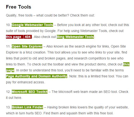 công cụ SEO-Check My Links
