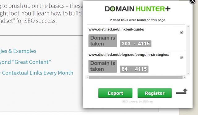 công cụ SEO-Domain Hunter Plus