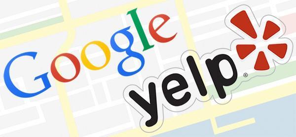 Kết quả hình ảnh cho yelp và google
