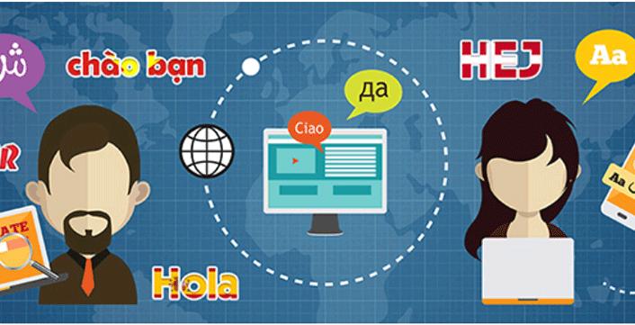 ngôn ngữ chính của trang web