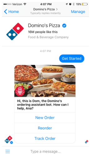 chatbot - Dominos