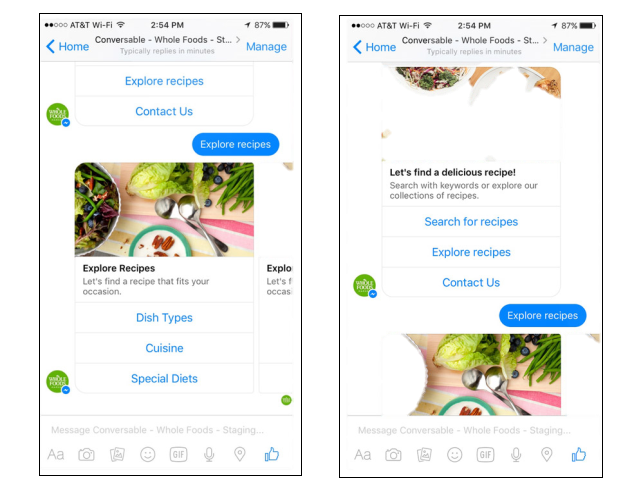 Chatbot - Whole Food