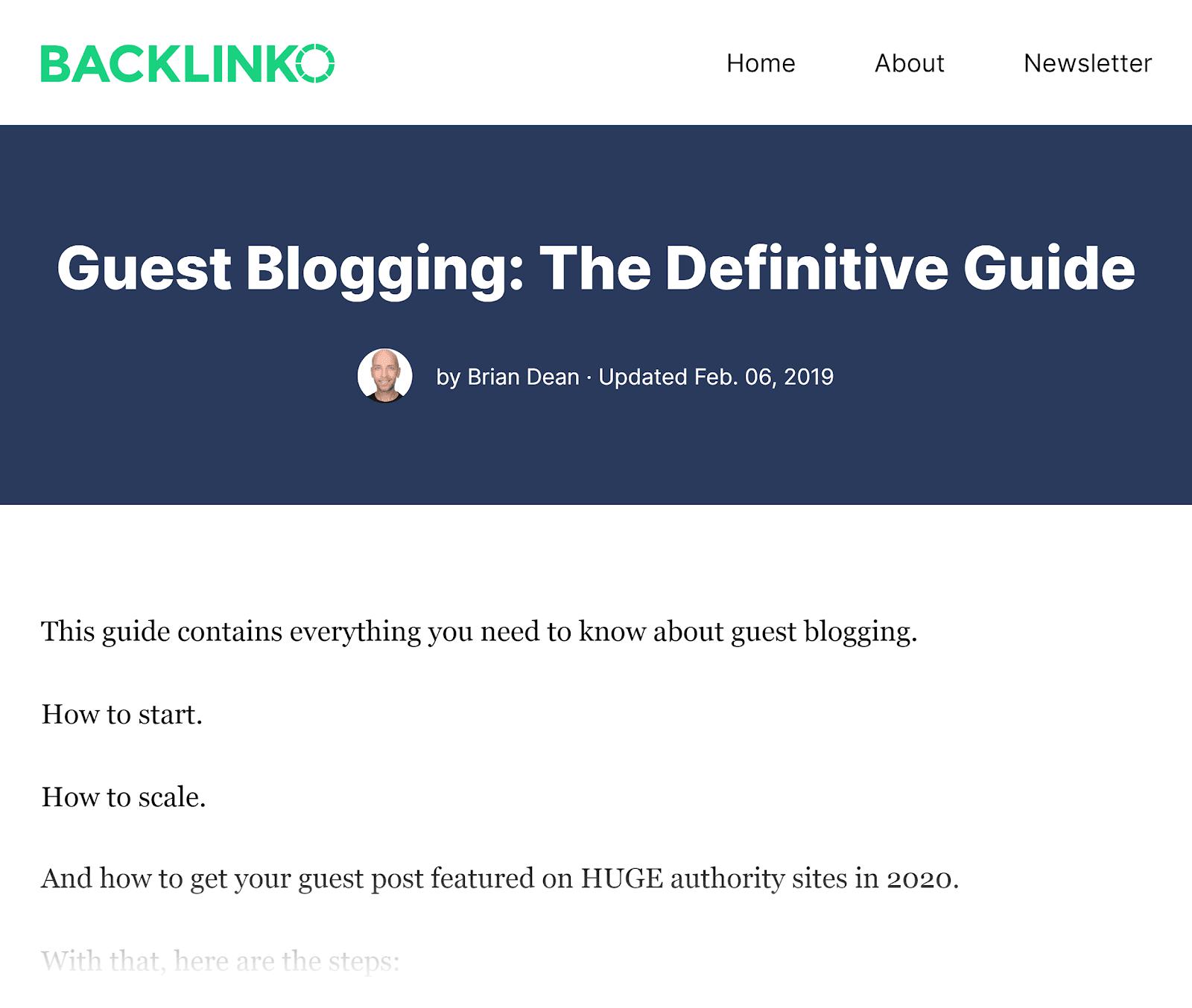 Backlinko - Hướng dẫn dứt khoát để viết blog cho khách