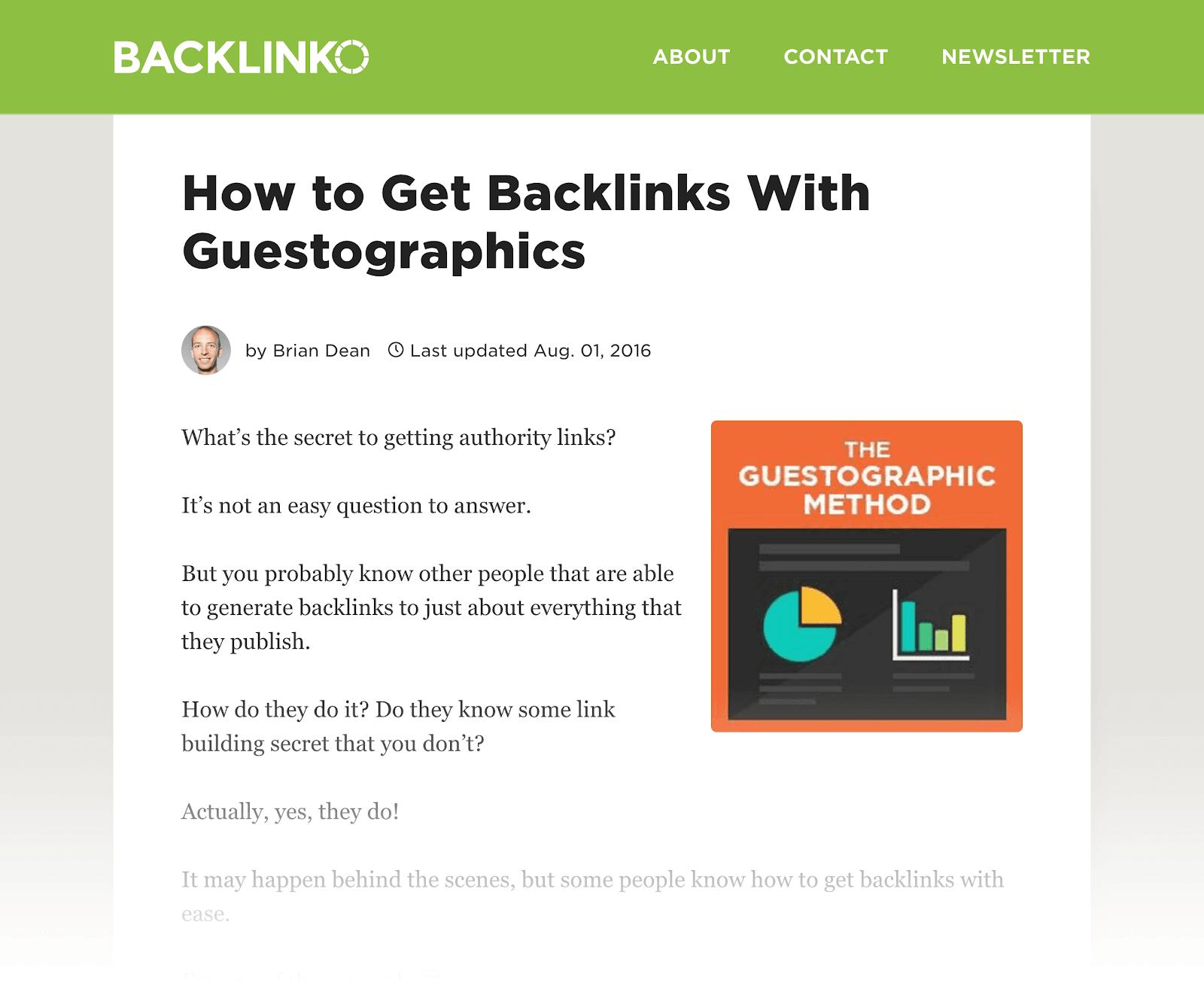 Làm thế nào để có được Backlinks với Guestographics