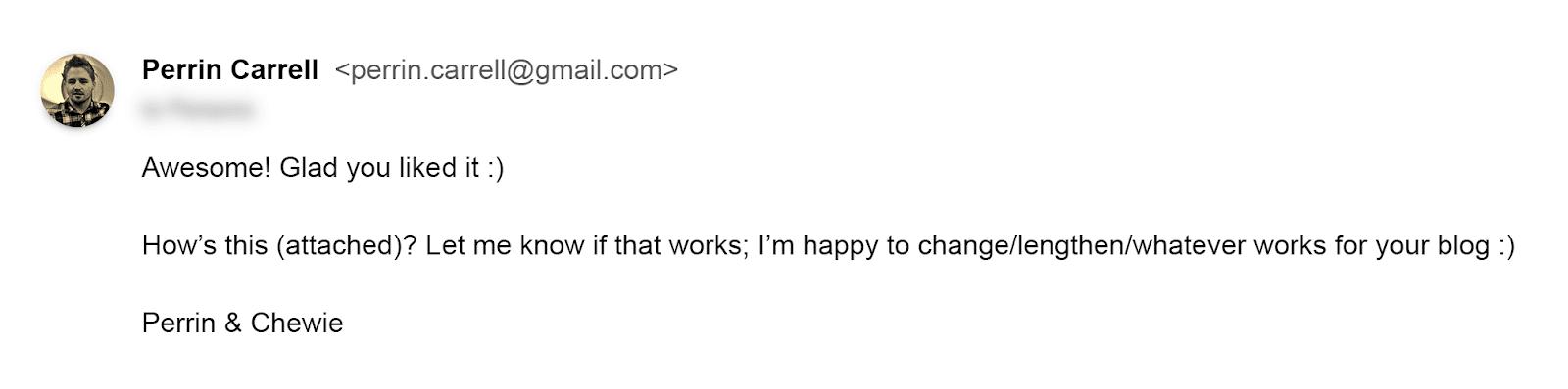 Email với lời giới thiệu độc đáo