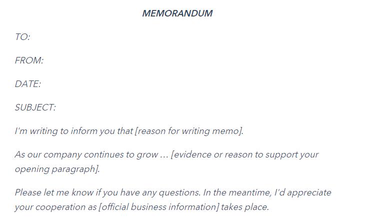 Memo là gì? Hướng dẫn cách viết và những ví dụ cụ thể