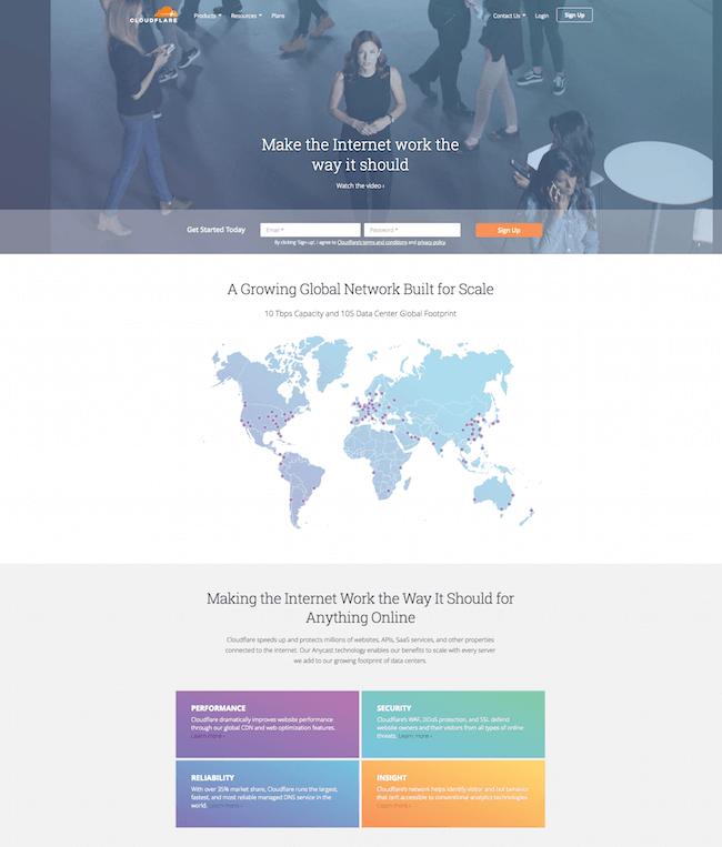 Cloudflare cung cấp các sản phẩm giúp trang web nhanh và an toàn hơn