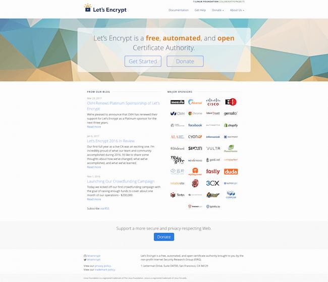Let Encrypt nơi cung cấp SSL miễn phí trong 3 tháng
