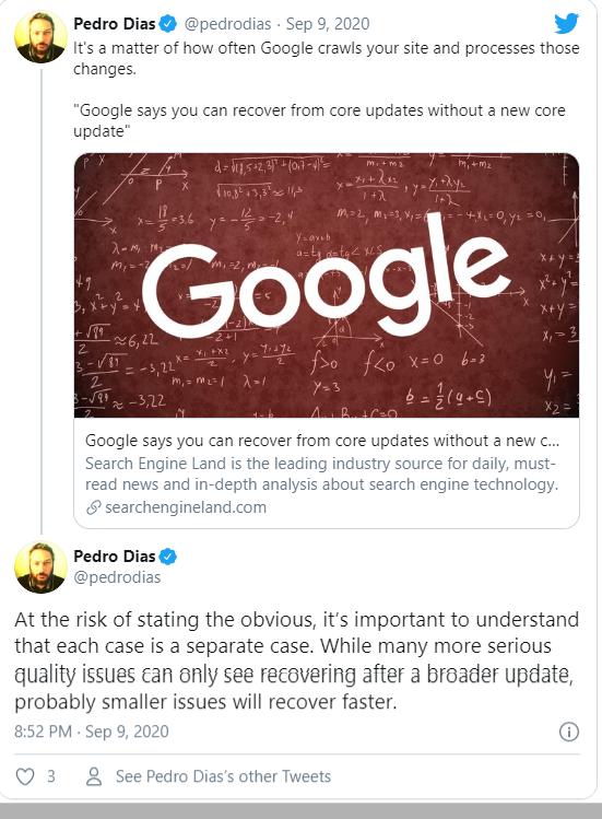 Pedro Dias đứng về phía Google.