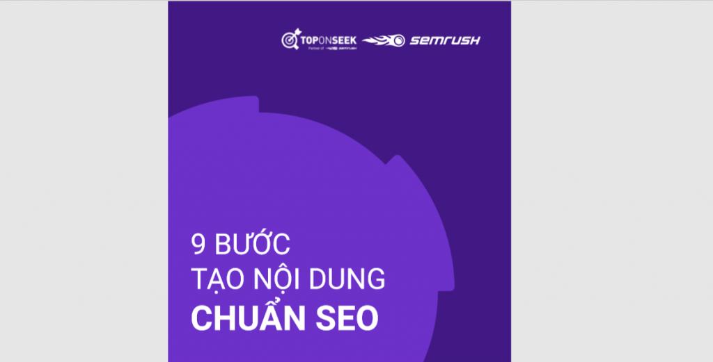 Infographics: 9 bước tạo nội dung chuẩn SEO