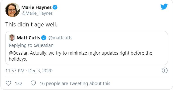 Bình luận của Marie Haynes về google core update