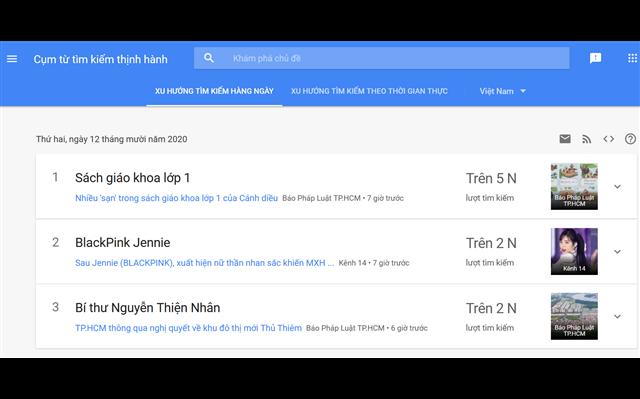Công cụ tìm từ khóa với Google Trend