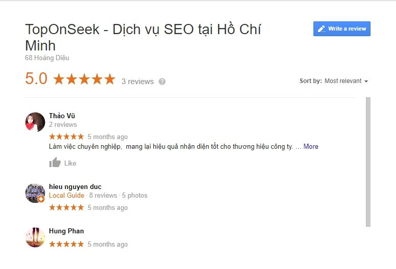 phan hoi khach hang review trong Google My Business