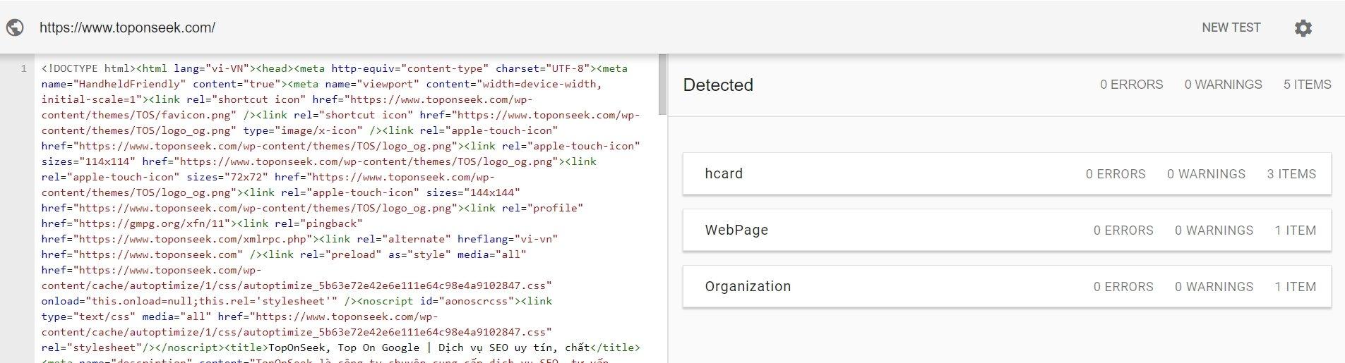 cấu trúc dữ liệu website