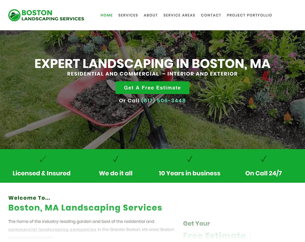 Boston landscaping company local headline example
