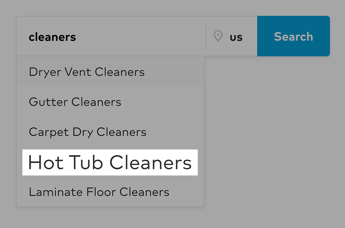 Thumbtack search – Hot tub cleaners suggestion
