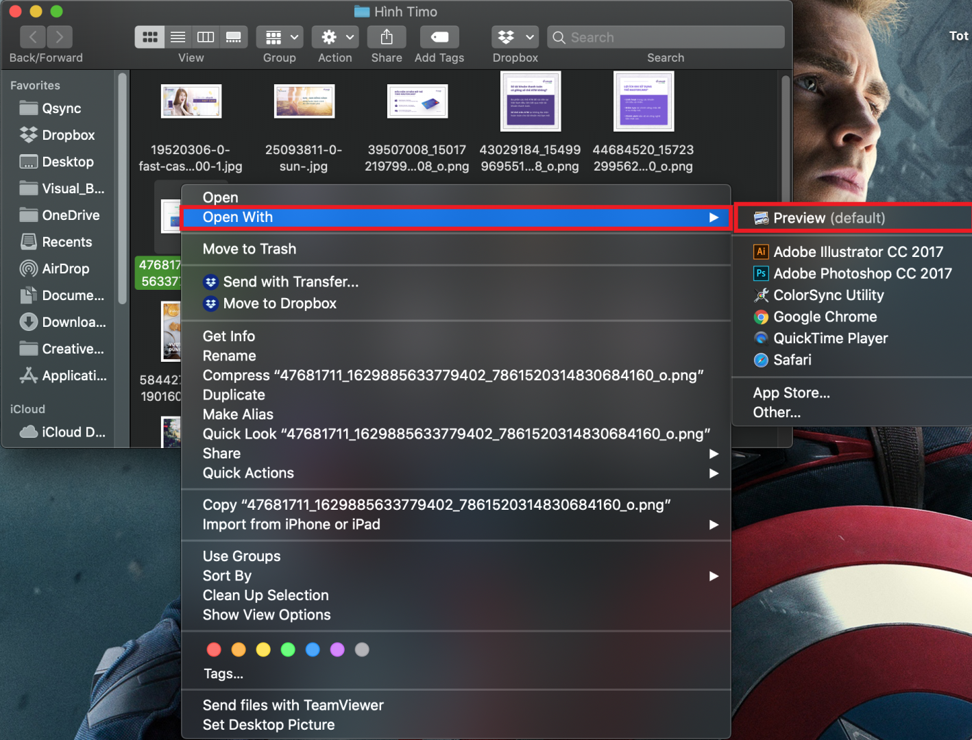 Mở ảnh ở chế độ Preview trên MacOS