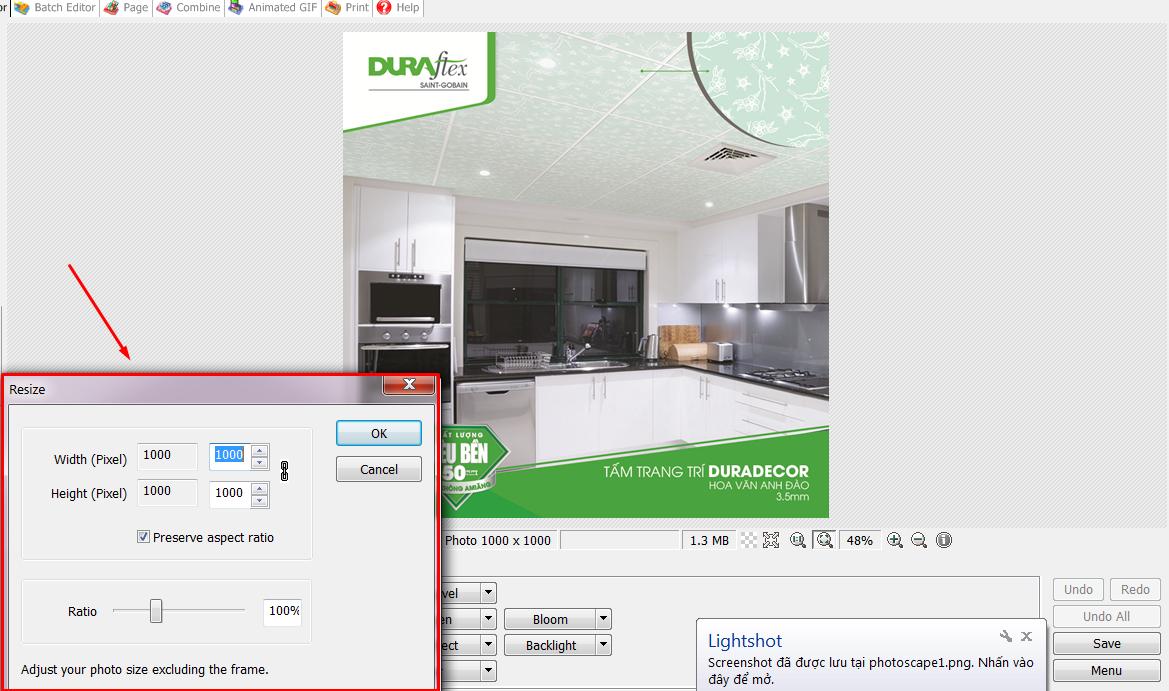 phần mềm giảm dung lượng ảnh photoscape