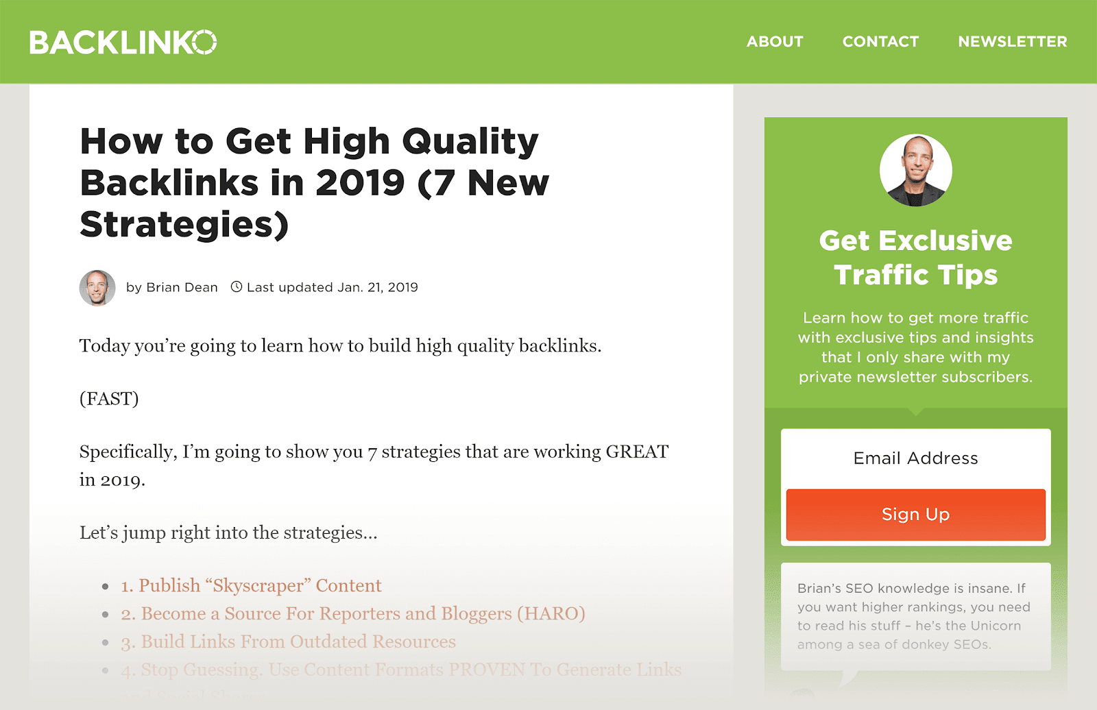 SEO content - Backlinko - Backlinks chất lượng cao