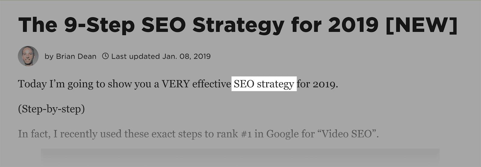 SEO content - Backlinko - Chiến lược SEO - sapo