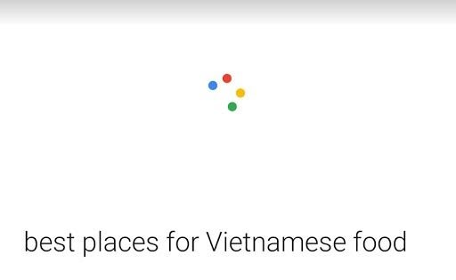 Kết quả tìm kiếm bằng giọng nói trong Google cho các nhà hàng địa phương