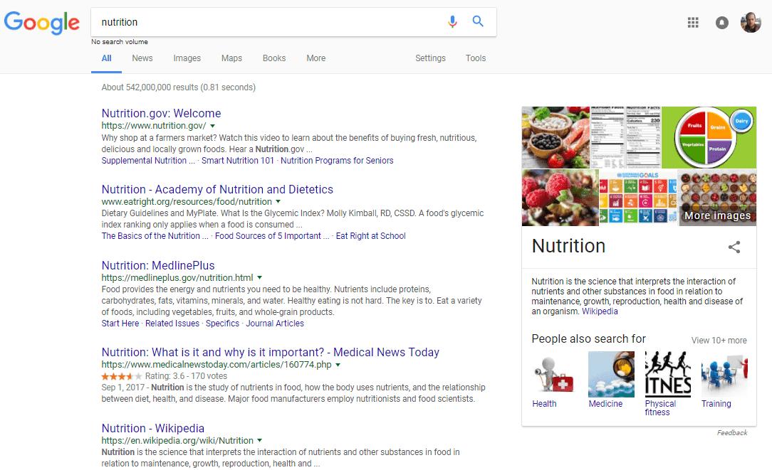 dinh dưỡng-bây giờ-tìm kiếm-kết quả