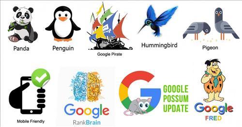 Các cập nhật lớn của lịch sử thuật toán Google
