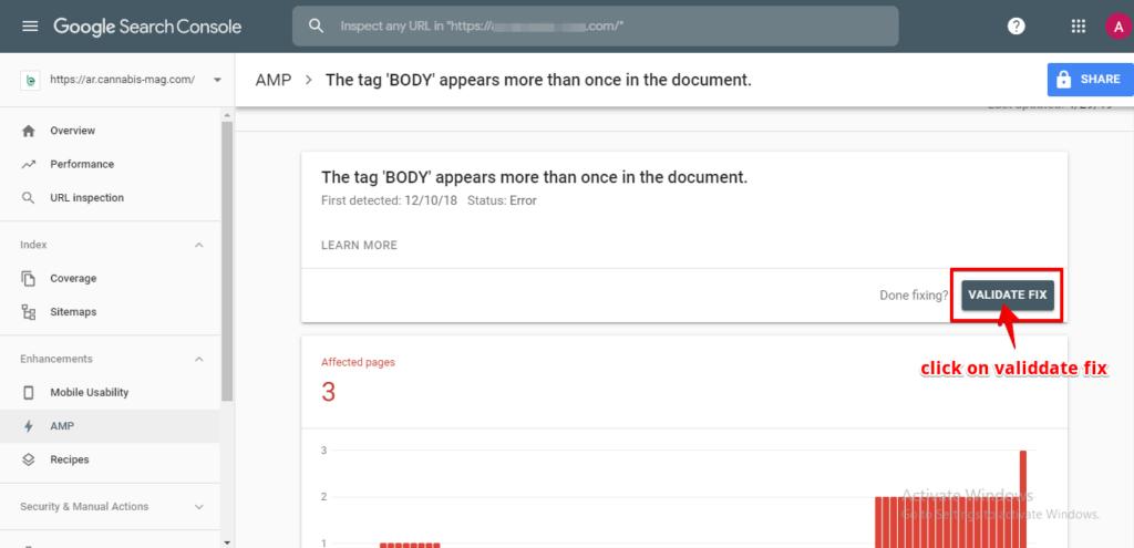 Cập nhật lỗi khi sửa xong trên Google Webmaster Tool