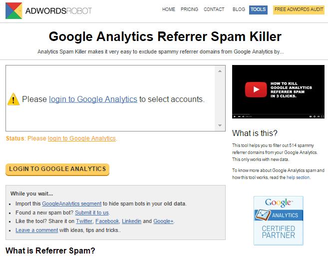 Google Analytics Referrer Spam Killer