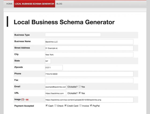 công cụ SEO-trình tạo Microdata