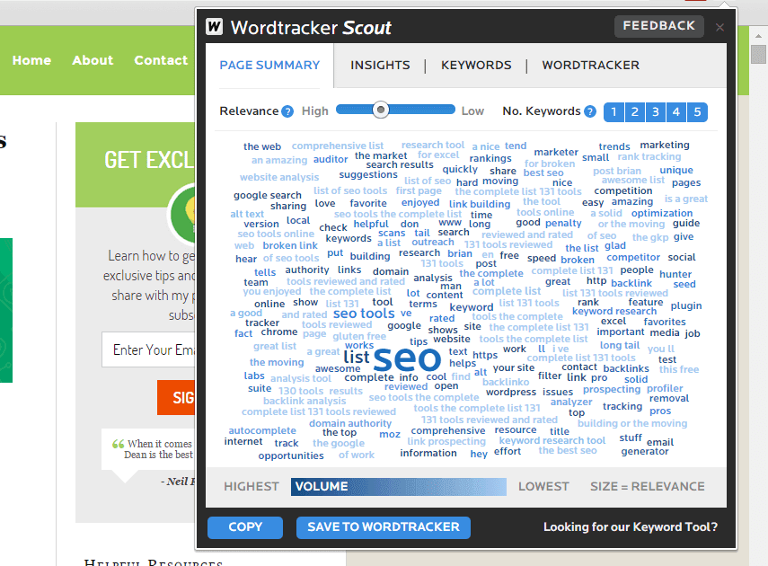 công cụ SEO-Wordtracker Scout