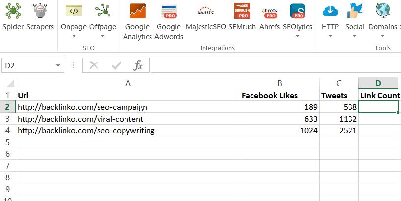 công cụ SEO-SEO Tools for Excel
