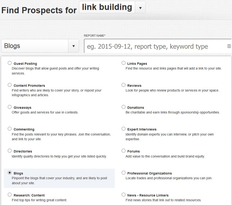 công cụ SEO-Link Prospector