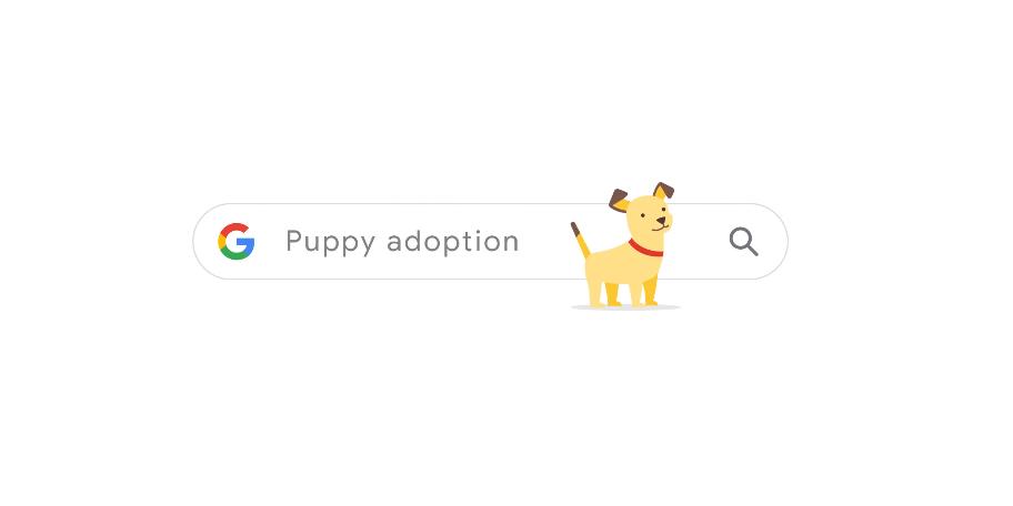Tìm kiếm google Puppy adoption