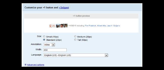 Tùy chỉnh Google +1
